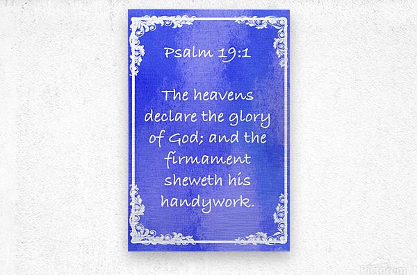Psalm 19 1 8BL  Metal print