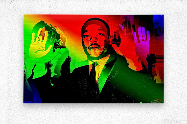 Martin Luther King - Dont Shoot - by Neil Gairn Adams  Metal print