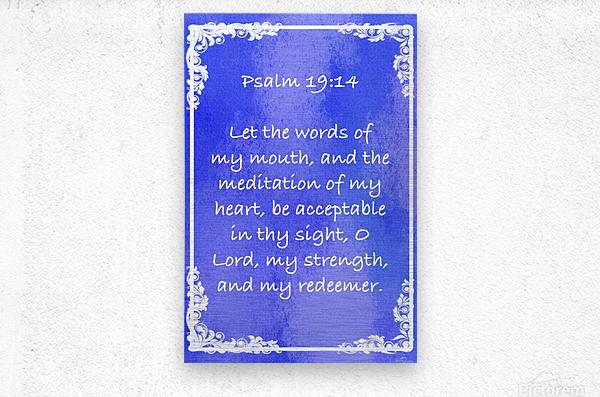 Psalm 19 14 8BL  Metal print