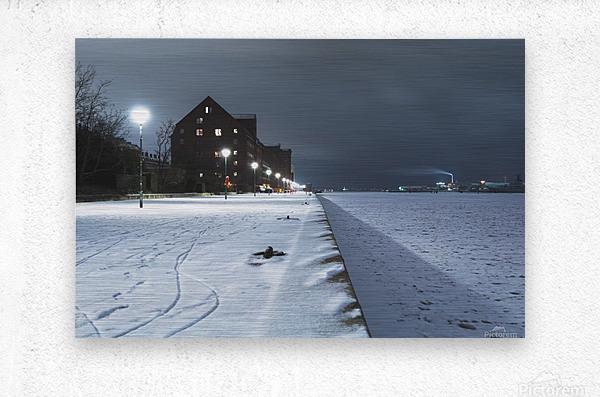 Forzen canal in Copenhagen  Metal print