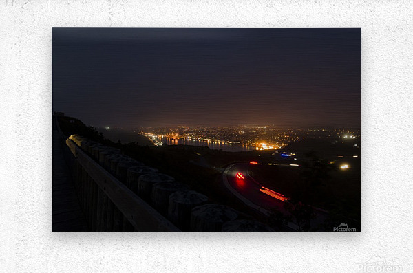 Night Scene from Signal Hill 7  Metal print