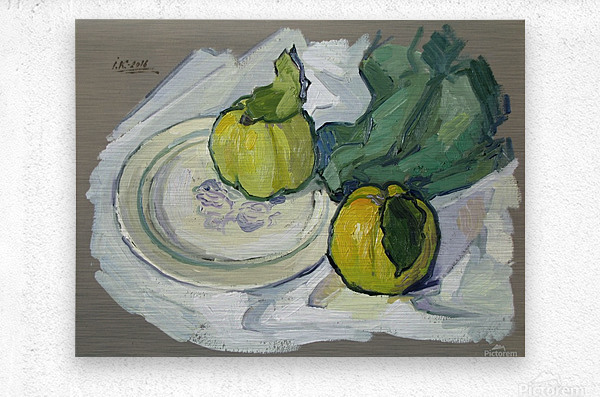 Still Life with Quince  Metal print