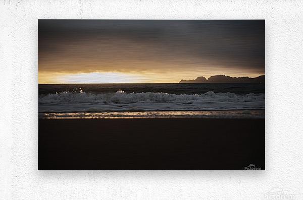 San Francisco Sunset  Impression metal