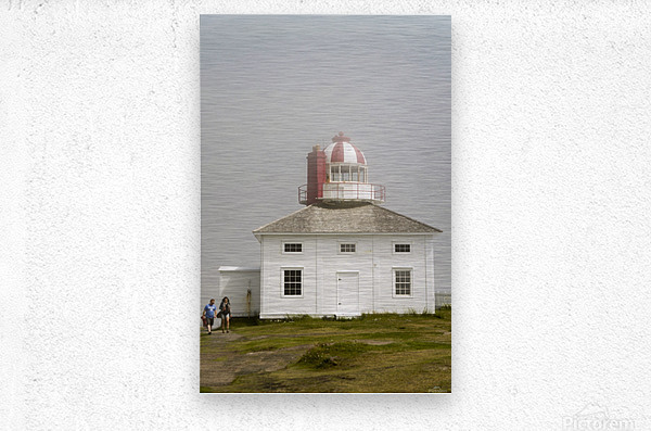 Original Cape Spear Lightkeepers house and light tower built in 1836 2  Metal print