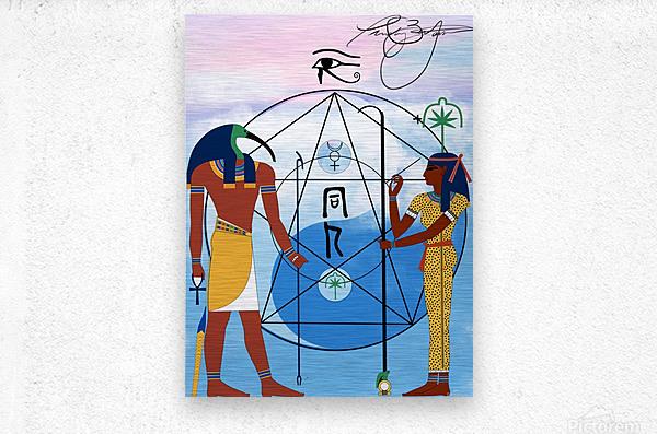 Egyptian Yin and Yang   Metal print