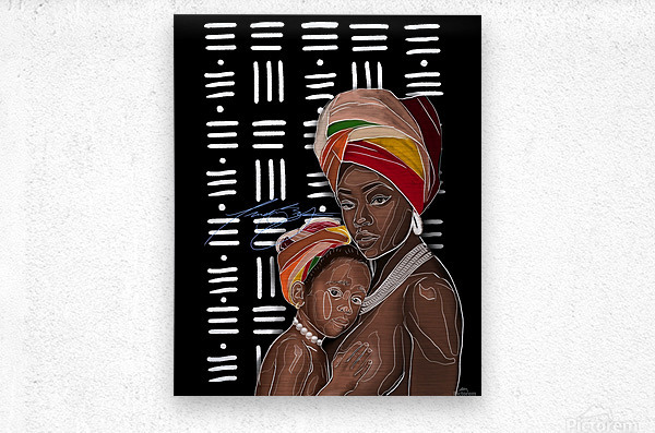 African Motherhood  Metal print