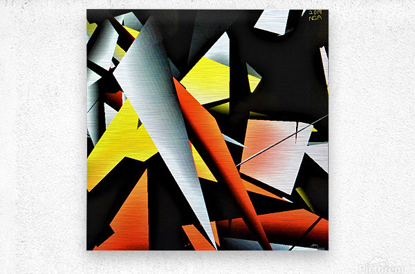 More Shapes -  by Neil Gairn Adams   Metal print