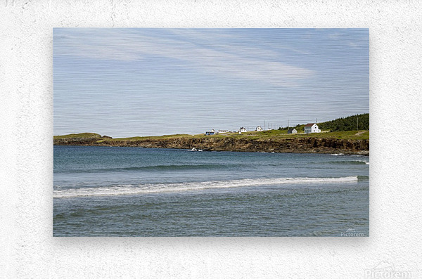 Elliston Newfoundland Coastline 15  Metal print