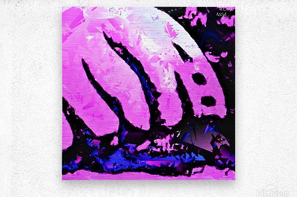 Pink Fingers - by Neil Gairn Adams  Metal print