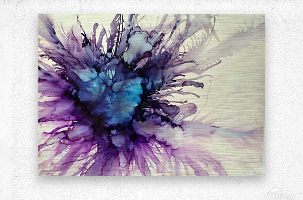 Purple Majesty  Metal print
