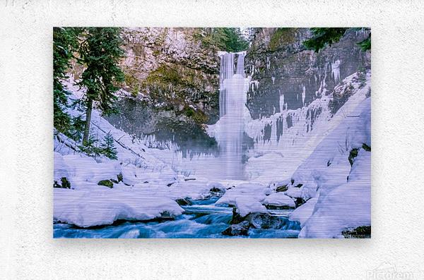 Semi frozen falls  Metal print
