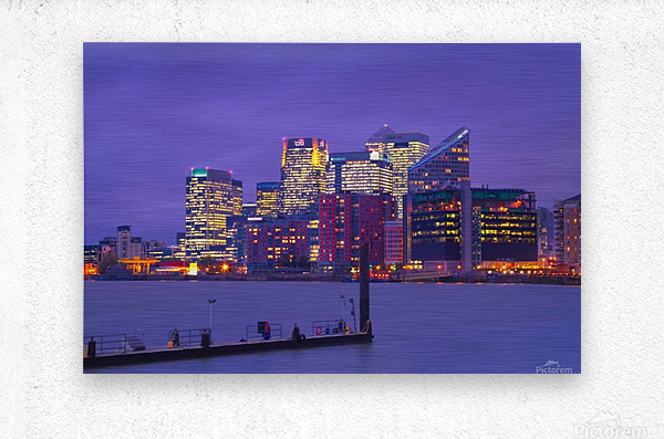 LON 007 Canary Wharf   Metal print