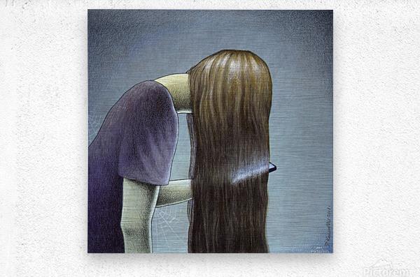 hair  Metal print