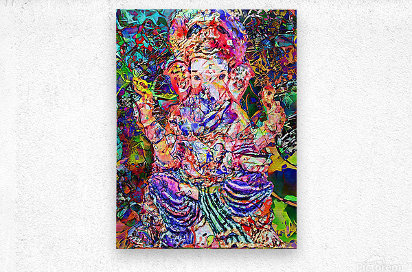 Divertido Ganesh   Metal print