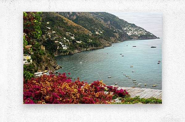 Amalfi Coast landscape   Metal print