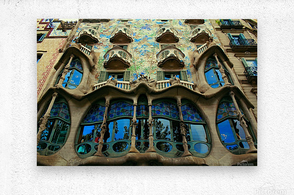 Casa Milla - Barcelona - Spain Landmark  Metal print