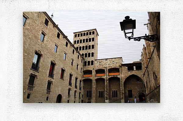 Gothic Quarter - Catalunya - Spain Landmark  Metal print