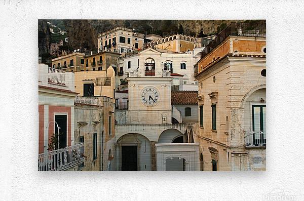 Church Clock - Italy   Impression metal