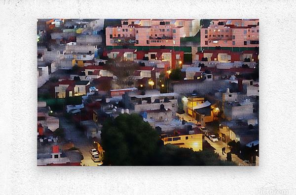 Town rendering  Metal print