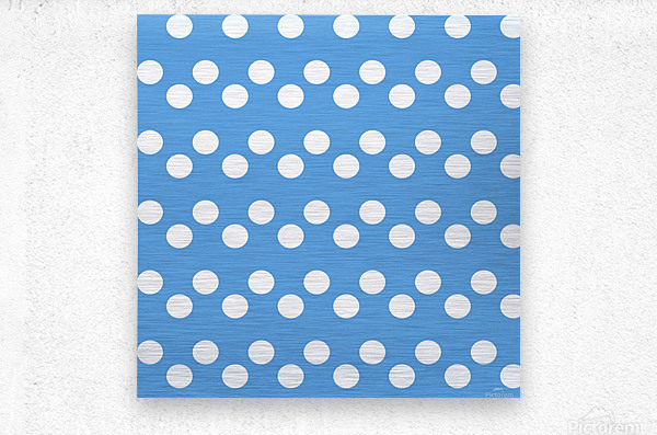 CORNFLOWER Polka Dots  Metal print