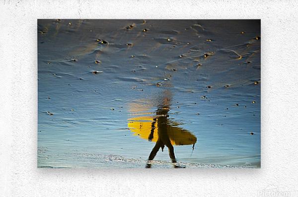 YELLOW SURFER  Metal print