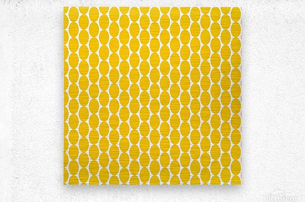 Yellow  egg shape  Metal print