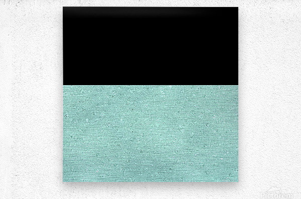 ABSTRACT TURQUOISE GLITTER  Metal print