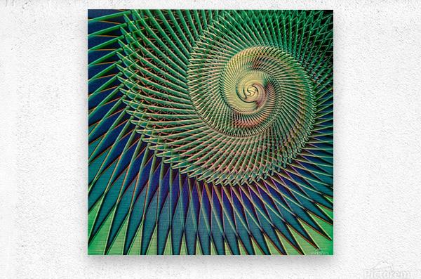 Composition Logarithmique  Metal print