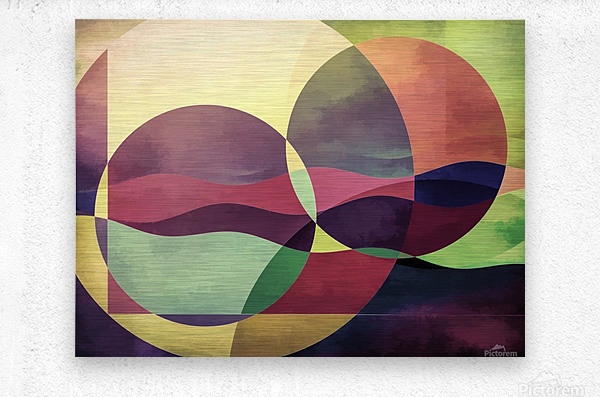 Middle Ground  Metal print