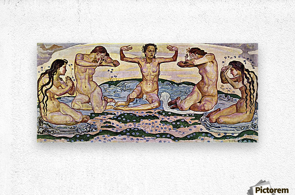 The day by Ferdinand Hodler  Metal print