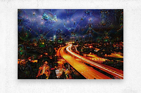 Midnight at the Ol Races  Metal print