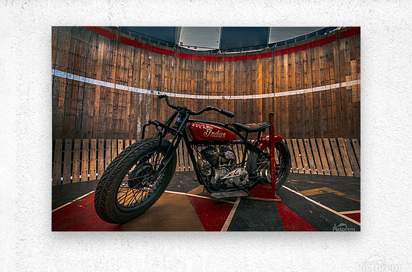 1927_Indian_Scout_Motorcycle  Metal print