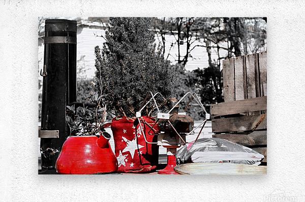 Red Kettle  Metal print