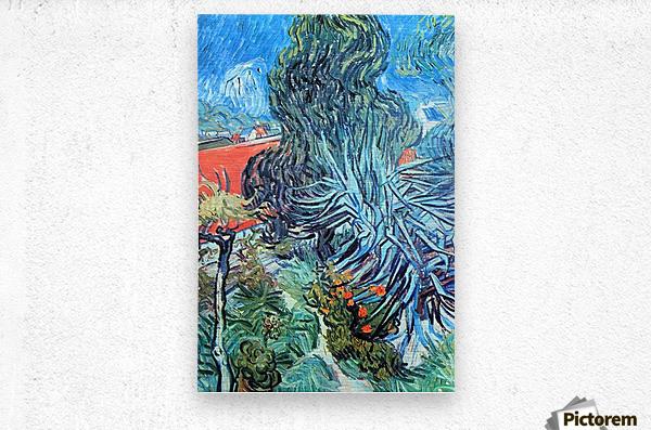 The garden of Dr. Gachet by Van Gogh  Metal print