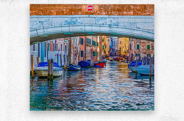 Afternoon Light in Venice Canal  Metal print