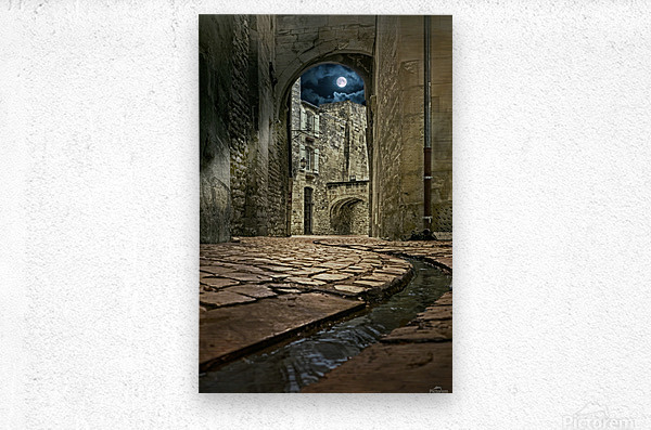 Moon over St. Remy  Metal print