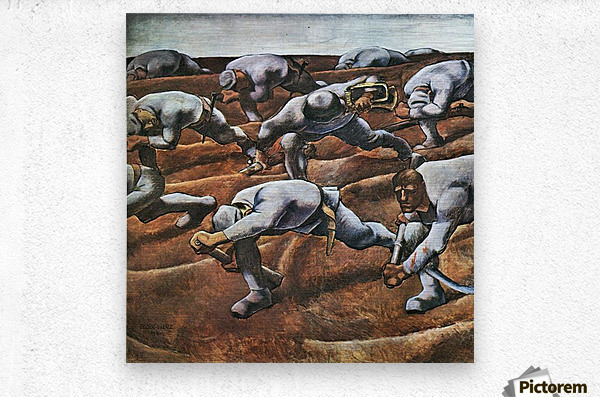 The Nameless 1914 by Albin Egger-Lienz  Metal print