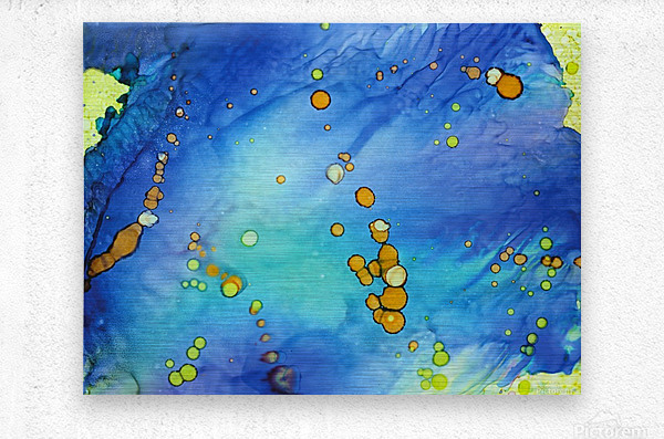 Bubbles in the Pool  Metal print
