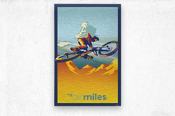 my air miles mountain bike poster  Metal print