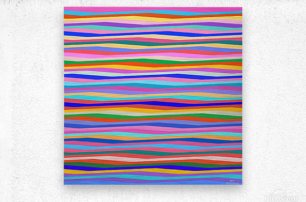 Wavy Stripes Abstract   Metal print