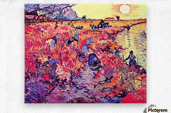 The red vines by Van Gogh  Metal print