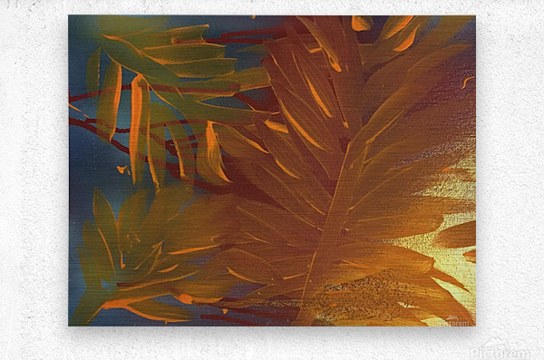 THE LEAF OF LIGHT  Metal print