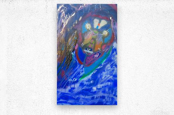 BLUE KING    Metal print