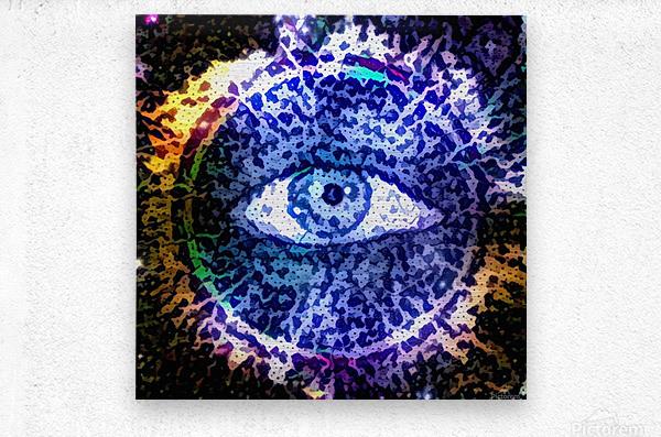 Beautiful Eye Design  Metal print
