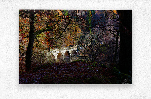 Viaduct River Gary  Metal print
