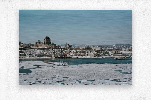 Vieux-Québec en hiver  Impression metal