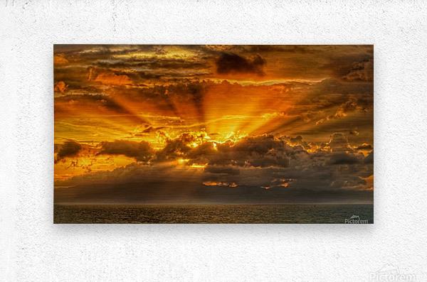 Polynesian Sunrise  Metal print