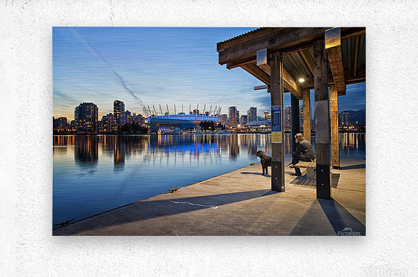 Waiting for Water Taxi  Metal print