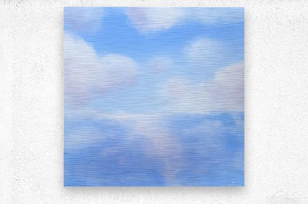 Happy Clouds - Original Artwork  Metal print