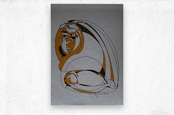 13 C  Metal print